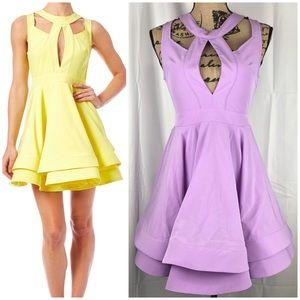 Luxxel Cutout Flare Dress Lavender Dress Size S